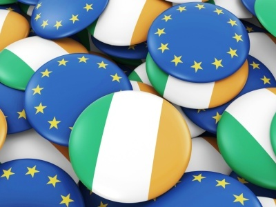 EU-Ireland Flags  OPED COLUMNMagazine