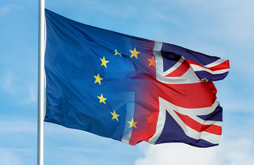 European Union (EU) and United Kingdom (UK) flags | OPED COLUMN Magazine
