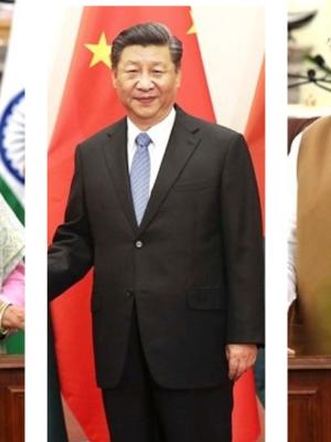 Sheikh Hasina (Bangladesh), Xi Jinping (China), Narendra Modi (India) |OPED COLUMNMagazine